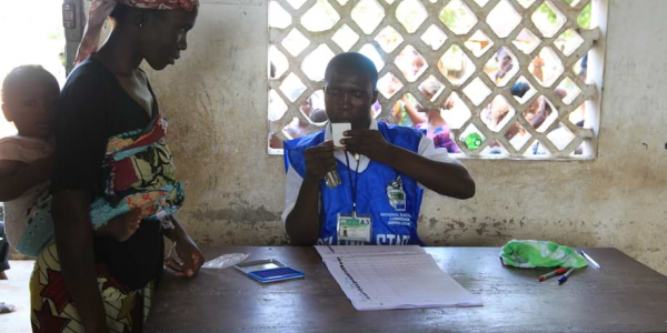Identification of voters in Sierra Leone